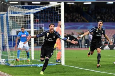 El Real Madrid pasó a cuartos de la 'Champions' tras ganar 3-1 al Nápoles