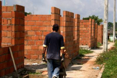 El área licenciada para la construcción cayó un 21,8 %