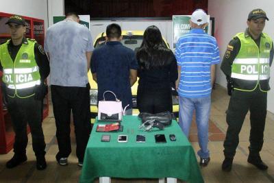 Neutralizada banda que cometía hurtos en un taxi en Bucaramanga