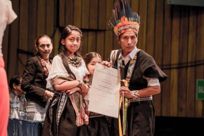 Por primera vez en 69 años, UIS graduó de profesional a un indígena de Nariño