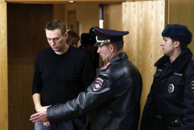 15 días de detención para opositor ruso Navalny, tras protestas