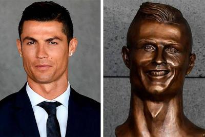 Esta es la estatua de Ronaldo que ha desatado todo tipo de burlas