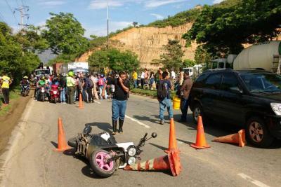 Motociclista murió en grave accidente de tránsito en el Anillo Vial