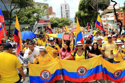 Así transcurrió la marcha del primero de abril en Bucaramanga