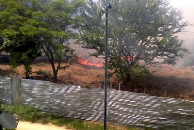 Reportan incendio forestal en el norte de Bucaramanga