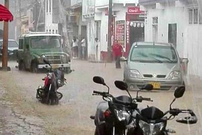 Inundaciones y fuertes vientos azotaron a Charalá, Santander