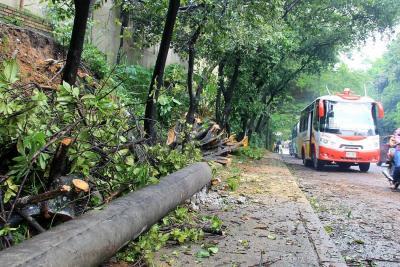 Aguacero causó derrumbes e inundaciones en 4 barrios
