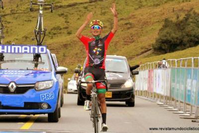 Santandereano Martínez mantuvo el liderato de la Vuelta a la Juventud