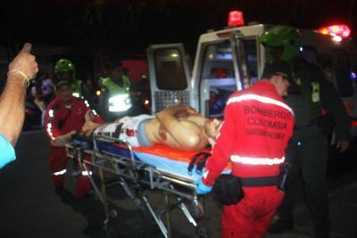 Atentado deja una persona herida en Santander