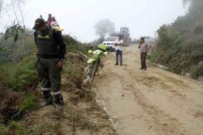 Mujer murió tras ser impactada por una roca en Piedecuesta