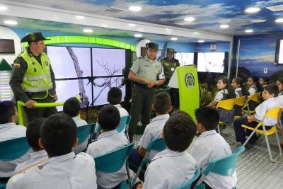 """Bus interactivo ambiental dejó """"huella"""" en el Socorro"""