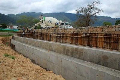 A mitad de año se terminará muro en sector de San Jorge