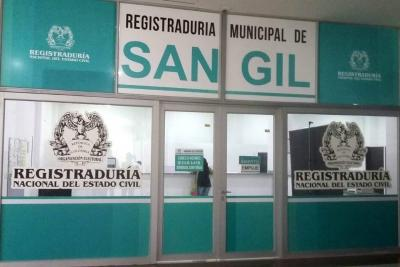 Se trasladó Registraduría Municipal de San Gil