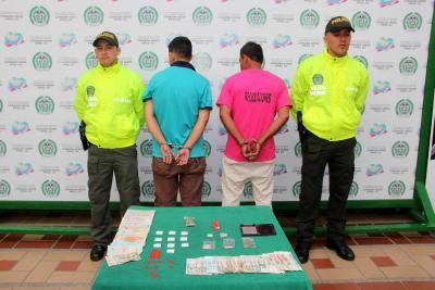 Capturados dos hombres señalados de vender droga