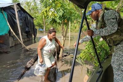 Primeros rescates en Santander por inundación del río Magdalena