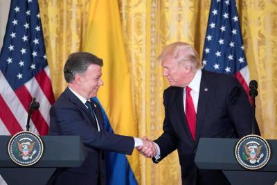 """""""Tuvimos una reunión muy productiva con Santos y seguiremos trabajando por la paz"""" Trump"""