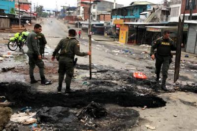 Destrozos, saqueos y disturbios durante paro cívico en Buenaventura