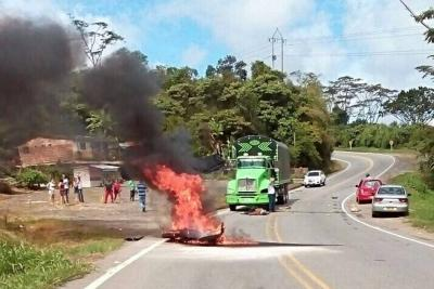 Trágico accidente en la vía Socorro a Oiba en Santander