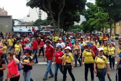 Así fue la marcha de maestros este martes en Bucaramanga