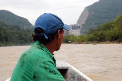Tres minutos antes del 'diluvio' en el Río Sogamoso