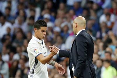 Zidane insinuó la salida de James Rodríguez del Real Madrid