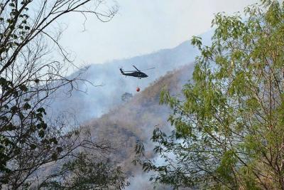 Ya hay alerta roja por incendios forestales en cinco departamentos