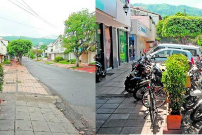Las dos caras de una misma calle de una Bucaramanga en caos