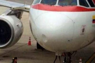 Avión de Avianca regresó a Bucaramanga tras impacto de ave