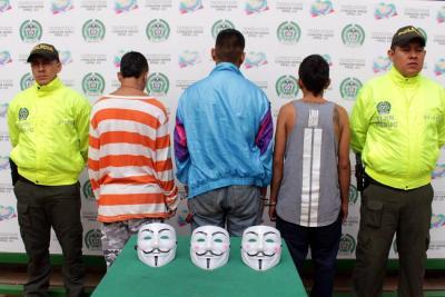 Desmantelan la banda 'Anonymous' de Bucaramanga