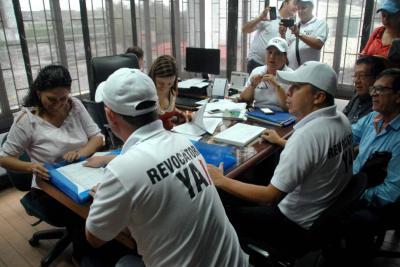 Registraduría pide posponer  elecciones de la revocatoria