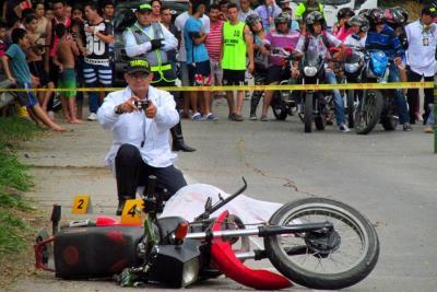 Motociclista murió tras chocar con una baranda en Bucaramanga