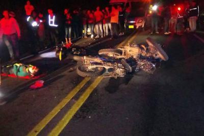 Accidente en Lebrija dejó dos motociclistas muertos y uno herido