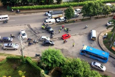 Accidentes generaron caos en Bucaramanga y el área