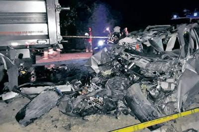 Hombre perdió la vida al chocar contra una volqueta en Bucaramanga