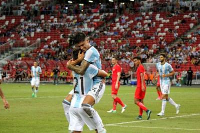 Selección Argentina cerró su gira internacional con goleada ante Singapur