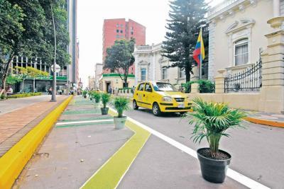 Aplican 'Urbanismo Táctico' en el centro de Bucaramanga