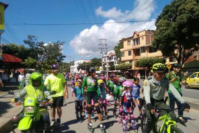 Policía acompañará a ciclistas de Girón en estas vacaciones
