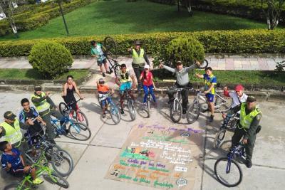 Policía de Guadalupe promueve ciclopaseos a sitios turísticos