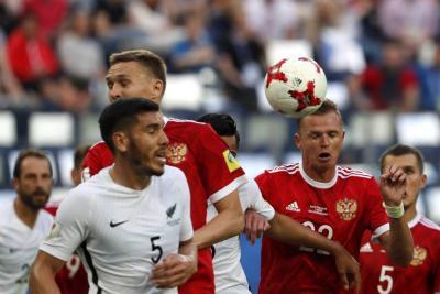 Rusia logró su primera victoria de local en la Copa Confederaciones