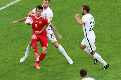 Rusia se estrenó con victoria 2-0 sobre Nueva Zelanda