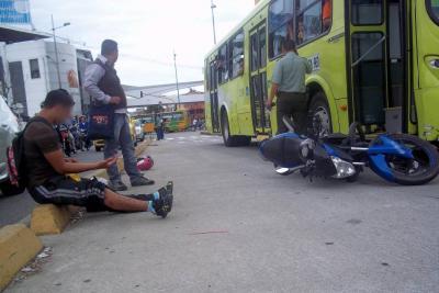 50% aumentaron los accidentes con moto sobre el carril de Metrolínea