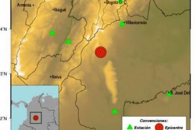 Temblor con epicentro en Meta se sintió en buena parte del país