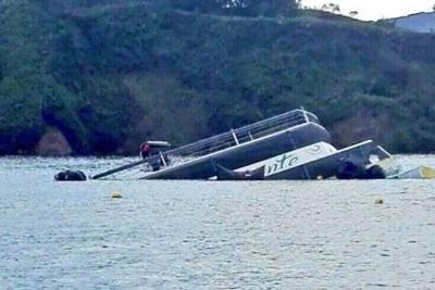 Armada rescató totalidad de El Almirante, barco hundido en Guatapé