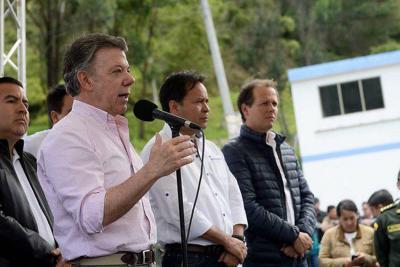 Santos destacó los alcances de la autopista Cúcuta-Pamplona