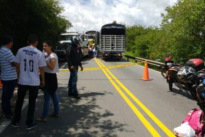 Motociclista murió en accidente múltiple en Santander