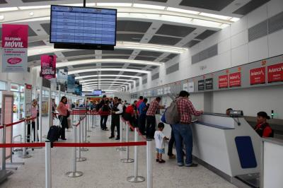 Tráfico de pasajeros cae 3,14% en aeropuerto Palonegro de Bucaramanga