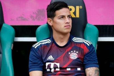James Rodríguez no fue titular en primer partido con el Bayern Munich