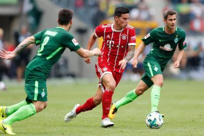 James Rodríguez debutó con Bayern Múnich en la Copa Telekom en Alemania
