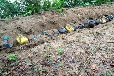 Armada Nacional destruyó explosivos en el Putumayo