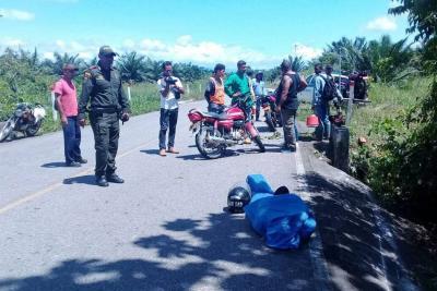 Motociclista murió tras tropezar con una alcantarilla en Santander